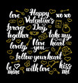 valentine day calligraphy design vector image