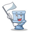 with flag toilet character cartoon style vector image