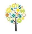 Machine Gear Wheel Cogwheel Tree Concept vector image