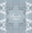 Retro invitation card on floral backgroun vector image vector image