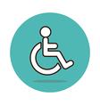 Wheelchair flat icon Medical vector image