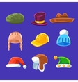 Different Types Of Hats And Caps Warm And Classy vector image vector image