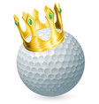 king of golf vector image vector image