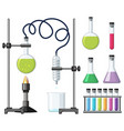 different science containers and equipments vector image vector image