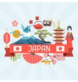 Japan background design vector image vector image