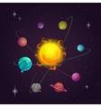 Fantasy solar system vector image