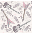 cute grunge abstract seamless guitar pattern vector image