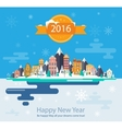 Winter landscape and city vector image