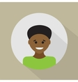 Young african - american Flat design vector image
