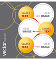 Abstract banner with yellow bubbles vector image