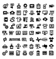 Big advertising icons set vector image