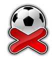 football fail outline vector image