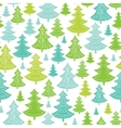 Holiday Christmas trees seamless pattern vector image