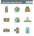 Icons line set premium quality of hotel service vector image