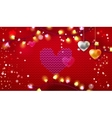 Knitting Valentine banner vector image