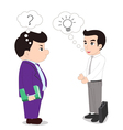 Presentation of ideas with boss vector image