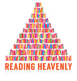 Reading Heavenly Colorful Books Stacks vector image