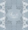 Retro invitation card on floral backgroun vector image