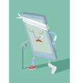 Broken sad smartphone vector image