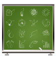 environment and nature icons vector image vector image
