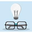 glasses bulb idea innovation creative vector image