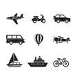 digital black travel transport vector image