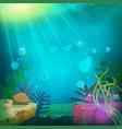 funny submarine ocean landscape vector image