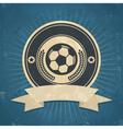 Retro Soccer Ball Emblem vector image vector image