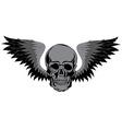 Skull T-shirt design Tatoo art vector image