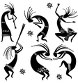 dancing figures vector image