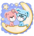 Two Dogs on the moon vector image