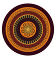 abstract mandala in the african style vector image