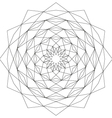 Adult coloring book page circular astral geometric vector image