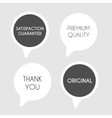 Black and white labels vector image