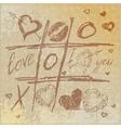Hand drawn Tic Tac Toe Hearts vector image