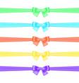 set of satin ribbons vector image