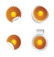 sticker weather forecast sun vector image