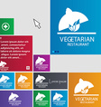 vegetarian restaurant icon sign buttons Modern vector image
