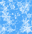 Frozen window - winter background vector image