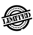 Limited rubber stamp vector image