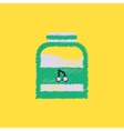 flat icon design collection jam in jar vector image