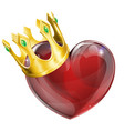 king of hearts concept vector image
