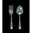 Diamond Fork And Spoon vector image