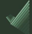 isometry volumetric pyramid vector image