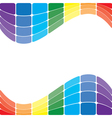 colorful wavy rainbow on white background vector image
