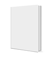 Blank White Book vector image