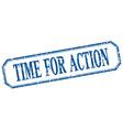 time for action square blue grunge vintage vector image