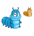 Cartoon caterpillar insect vector image