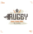 College rugby team badge vector image