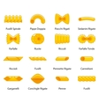 color pasta collection vector image